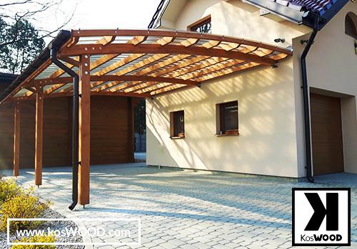 Wiata garażowa z drewna